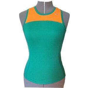 Nike Dri-Fit Racerback Running Tank teal/orange XS